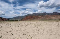 Steppe desert mountain sky Royalty Free Stock Photos