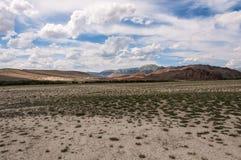 Steppe desert mountain sky Royalty Free Stock Photo