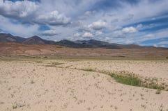 Steppe desert mountain sky Royalty Free Stock Image