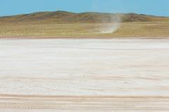 steppe Humidité déboisée et pauvre et secteur généralement plat avec le gra photos stock