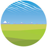 Steppe illustration Royalty Free Stock Image