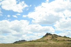 Steppe landscape Royalty Free Stock Photos