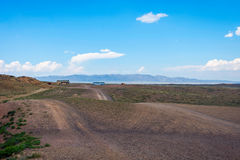Steppe landscape in Kazakhstan, Central asia Royalty Free Stock Photography
