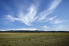 Steppe landscape in Olkhon island, lake Baikal. Royalty Free Stock Image