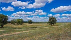 Steppe landscape Stock Photos