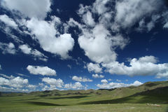 Steppe landscape and skies Stock Photography
