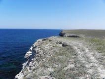Steppe och hav Fotografering för Bildbyråer