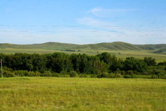Steppe. A photograph of the Kazakh steppe in the small town of Temirtau Stock Image