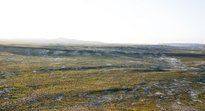 Steppe plain. Wide view scenery of the steppe plain Stock Photo