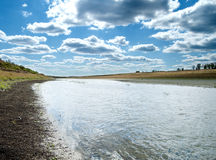 Steppe river Stock Photo