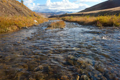 Steppe river Stock Images