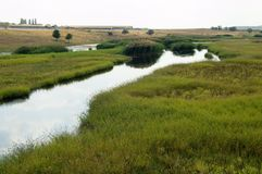 Steppe river stock photography