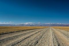 Steppe road Stock Images