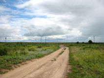 Steppe and road Royalty Free Stock Photos