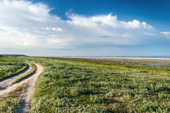 The steppe road to the sea Royalty Free Stock Photos