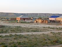 Steppe settlement. Stock Images