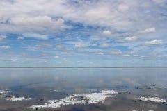 Steppe. In Siberian - desert in Omsk, lake dead Stock Photography