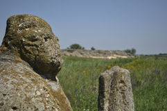 Steppe stone figure Scythian Royalty Free Stock Photos