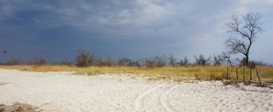 Steppe before the storm Royalty Free Stock Images