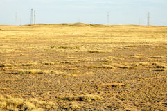 Steppe in the summer. Central Asia Kazakhstan Royalty Free Stock Photo