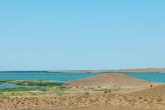 steppe Treeless fattig fuktighet och allmänt lägenhetområde med gra arkivbilder