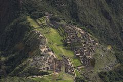 The stepped city of Machu Picchu royalty free stock photography