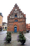 Stepped gable house at Stortorget, Ystad, Sweden Stock Photos