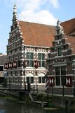 Stepped gable houses in Holland royalty free stock images