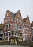 Stepped gables in historical Dokkum, Netherlands Stock Image
