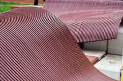 Stepped metal wave patterns Stock Photography