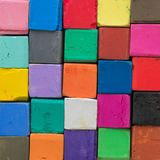 Colorful Pastel Chalk Colours Crayon Pieces royalty free stock image