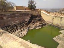 Stepped pond named as baoli in nahargar,  Jaipur& x28;rj& x29; royalty free stock photos