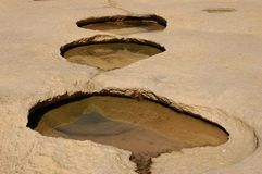Stepped Puddle's Stock Images