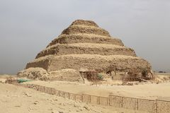 Stepped Pyramid - Saqqara, Egypt Stock Images