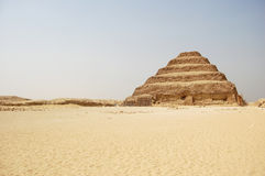 Stepped pyramid at Saqqara in Egypt Stock Photos