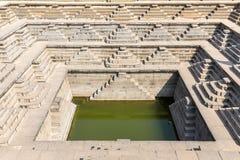 Stepped square water tank, Hampi, Karnataka, India. Stepped square water tank in Hampi, Karnataka, India, Asia royalty free stock image