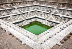 Stepped tank in Hampi Royalty Free Stock Photo