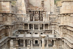 Stepped water well of Patan. Ancient step well of Patan, Gujrat, known as Rani ki vav Royalty Free Stock Photo