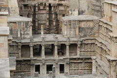 Stepped water well of Patan Stock Photo