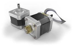 Stepper electric motor Royalty Free Stock Photography