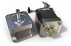 Stepper electric motor stock image