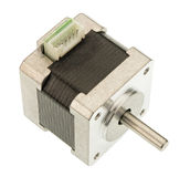 Stepper motor isolated on white. Background stock images