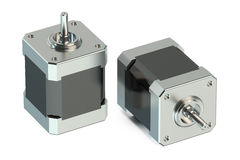 Stepper motors 3D Royalty Free Stock Photo