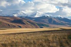 Steppes de colline d'Altai Images stock