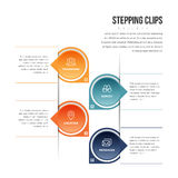 Stepping Clips Infographic Royalty Free Stock Photography
