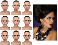 Stepping makeup. The final result in the image Stock Photos