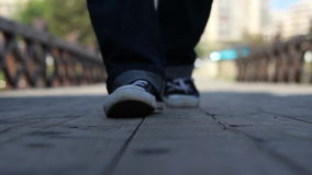 Stepping Over stock footage