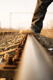 Stepping rails Stock Photography