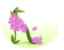 Stepping in spring, cdr vector Stock Images