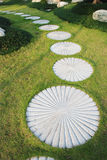 Stepping stone footpath Stock Photos